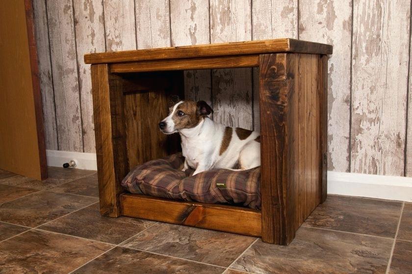 Bedside table dog bed
